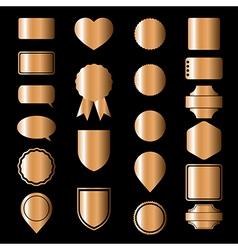Bronze icons vector