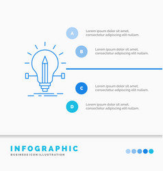 bulb creative solution light pencil infographics vector image