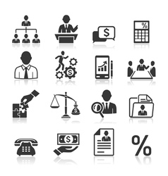Business icons vector