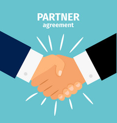 business partnership handshake vector image