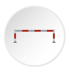 Car barrier icon flat style vector