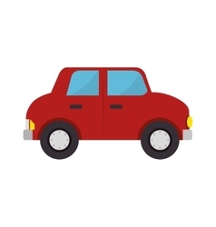 Car toy kid isolated icon vector