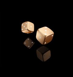 Casino poker dice on black background with vector