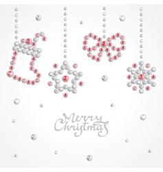Christmas jewel background vector image