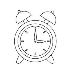 Clock alarm back to school symbol vector