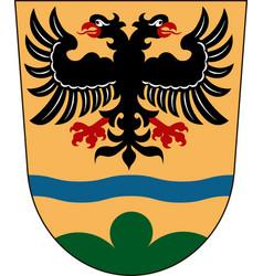 Coat of arms of deggendorf in lower bavaria vector