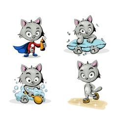 Color cats vector