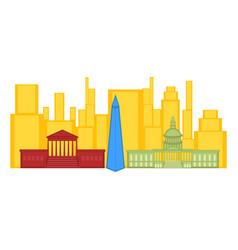 colored cityscape of washington city vector image