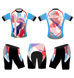 Colorful art sports t-shirt vector