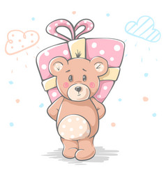 cute baby teddy cartoon character vector image