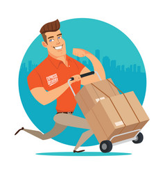 Delivery worker vector