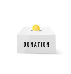donation and charity donate money concept golden vector image