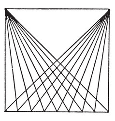 Drawing diagonal lines with t squares vector