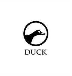 duck logo vector image
