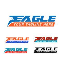Eagle express logo vector