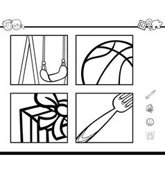 Educational activity coloring book vector