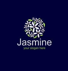 Elegant jasmine logo vector