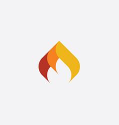 fire icon logo element burning flame symbol vector image