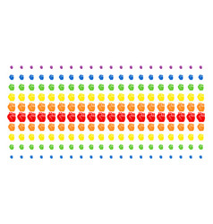 fist shape halftone spectral pattern vector image