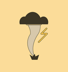 Flat icon on background disaster tornado vector