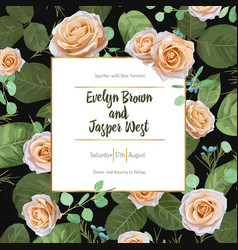 floral wedding invitation greeting card save vector image