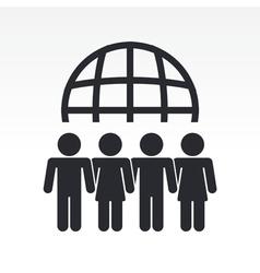 Global people meeting vector