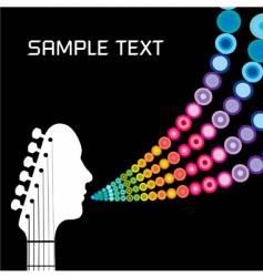 guitar headstock man vector image