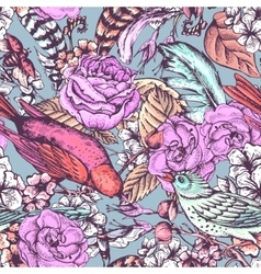 Hand Drawn Spring Seamless Pattern vector