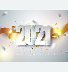 happy new 2021 year elegant winter holiday vector image