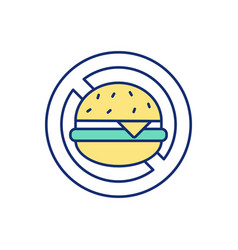 Healthy eating habits promotion rgb color icon vector