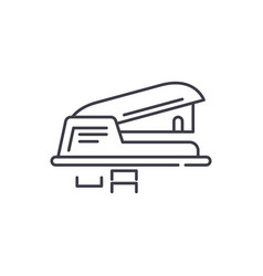 Hole puncher line icon concept hole puncher vector