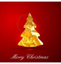 Holiday of a golden metallic foil Christmas vector