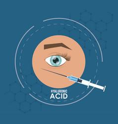 Hyaluronic acid filler injection infographic flyer vector