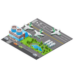 isometric airport template vector image