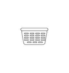 Laundry basket isolated icon vector
