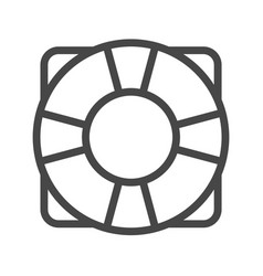 Lifebuoy thin line icon vector
