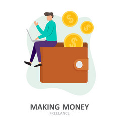 Making money freelance remote job work remotely vector