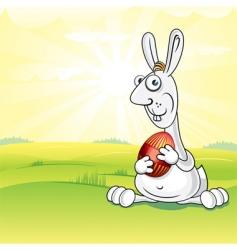 meadow bunny vector image
