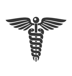 Medical caduceus sign line style vector