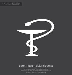 medical sign premium icon white on dark background vector image