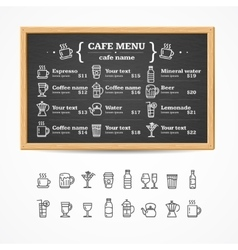 Menu Black Board vector image