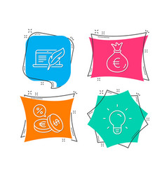 Money bag copyright laptop and currency exchange vector