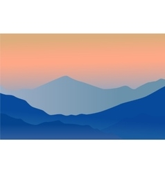 Mountains background vector