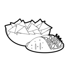 Nachos and burrito design vector