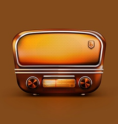 Old School Radio vector image