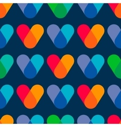 Overlapping colors Colorful seamless pattern vector