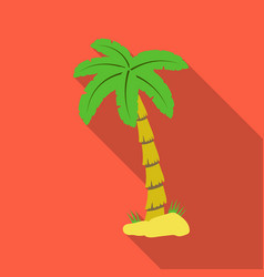 Palm tree icon in flate style isolated on white vector