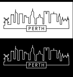 perth skyline linear style editable file vector image