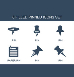 Pinned icons vector