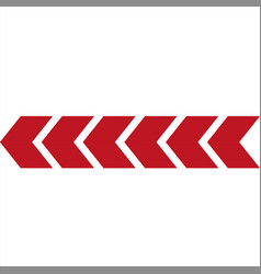 red arrows on white backgrounddirection indicator vector image